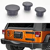 #10: GZSJY Jeep Wrangler Tailgate Plugs - 3 RUBBER Plugs Set fits 2007 thru 2019 Wrangler for Removed Tire Carrier Bumper Tramp Stamp