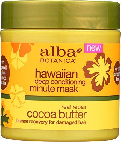 51QvHiy6GWL Alba Botanica Hawaiian Cocoa Butter Deep Conditioning Minute Mask, 5.5 Ounce