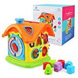 Baby Toys Activity Cube Toys Shape Sorter Smart House Learning Toys Building Block Kit Cottage, Touch-n-Learn Fun Educational Activity Center Great Gift Toy for Infant, Toddler 3, 6, 9, 18 Months+