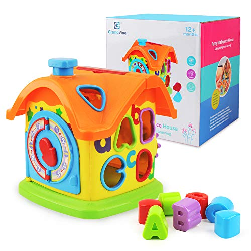 (Baby Toys Activity Cube Toys Shape Sorter Smart House Learning Toys Building Block Kit Cottage, Touch-n-Learn Fun Educational Activity Center Great Gift Toy for Infant, Toddler 3, 6, 9, 18 Months+ )