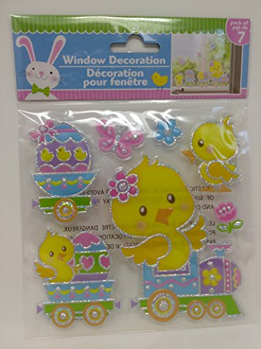 Happy Easter Stickers Window Decor Decoration Autocollants Chick