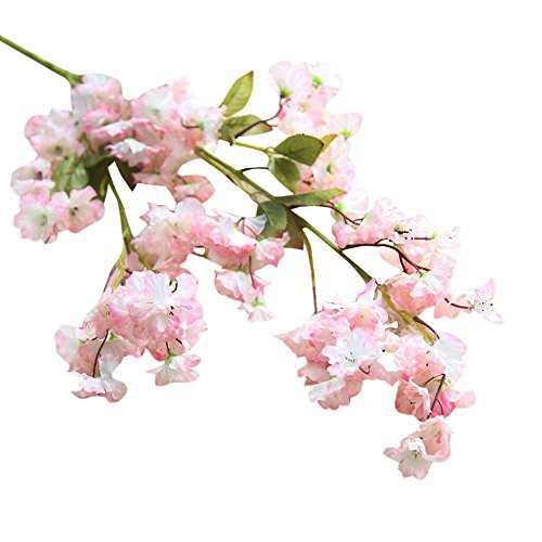 Block China Hydrangea (Fake Flowers,Napoo Cherry Blossom Silk Flower Bridal Hydrangea Garden Party Home Decor (B))