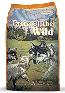 Taste of the Wild High Prairie Puppy Formula with Bison and Roasted Venison Dry Dog Food, 30-Pound Bag