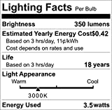 LED Bulbs GU10 35W Halogen Bulbs Equivalent, 3.5W MR16, 3000K Warm White Light 350Lm,120 Degree Beam Angle Non-Dimmable LED GU10 Base, 9 Pack