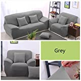 Big Elasticity Polyester Couch Cover Loveseat Sofa Furniture Cover Pure Color Machine Wash Sofa Cover