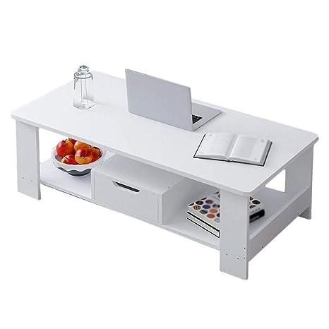 Amazon.com: MUMUMUJIN - Mesa auxiliar con cajón, 2 capas ...