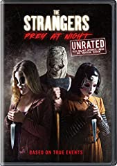 A family's road trip takes a dangerous turn when they arrive at a secluded mobile home park to stay with relatives and find it mysteriously deserted. Under the cover of darkness, three masked psychopaths pay them a visit to test the family's ...