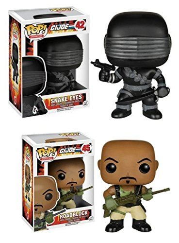 Funko POP! G.I. Joe: Snake Eyes & Roadblock - TV Cartoon Vinyl Figures NEW