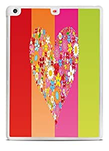 Colorful Hearts Black iPad Air Silicone Case