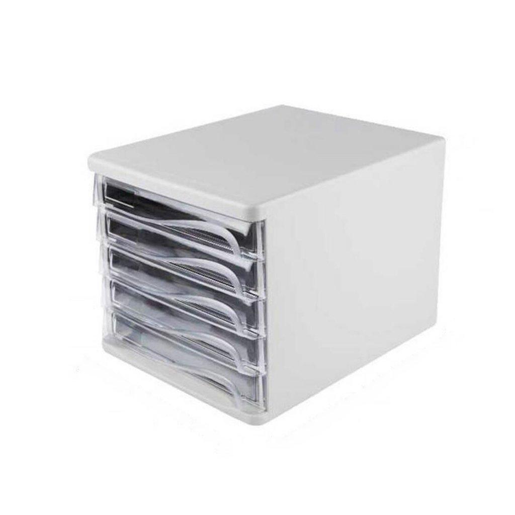 Archivadores Liuyu middot; middot; middot; Living Home Archivo de cajoacute;n de gabinete de Archivo Caja de Almacenamiento de Alta Capacidad de Escritorio de Quinto Piso de Escritorio (Color : Blanco) d96ad2