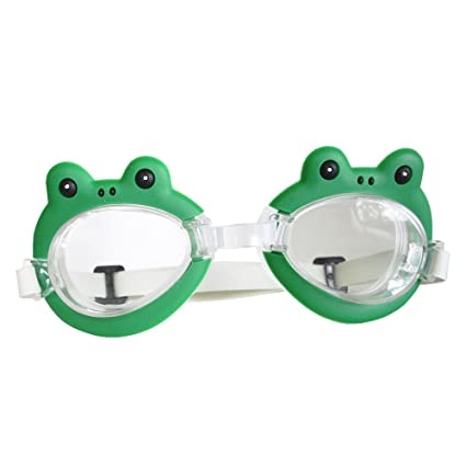 32e833e87be0 Image Unavailable. Image not available for. Color  Green Frog Swim Goggles  Beach Gear Underwater Pool Toy Kids ...