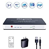 3 Port HDMI Switch, HDMI Switch, HDMI Switch with PIP Remote, HDMI Switch Box Support 4K, 3D, Compatible for Xbox One, Roku, PS4, Fire TV Stick and More (3 in 1 Out HDMI Switch with PIP)