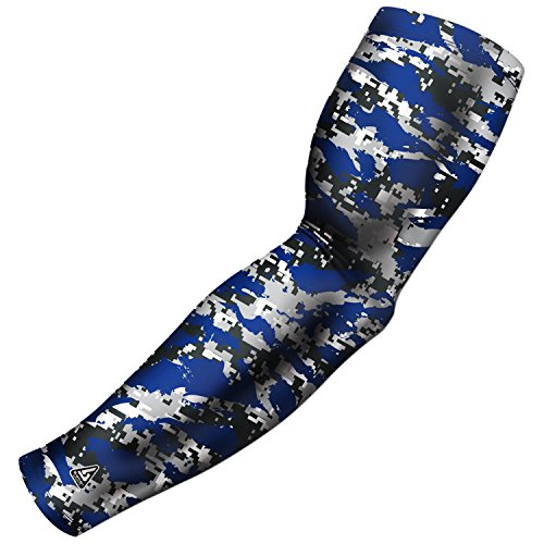 Spf 40 Active Sunblock (Arm Sleeve for Baseball Football Basketball and other sports activities. By B-Driven Sports, 8-12mmHG Medium Compression in 40+ Colors and designs available in Adult and Youth Sizes 100% Guarantee)