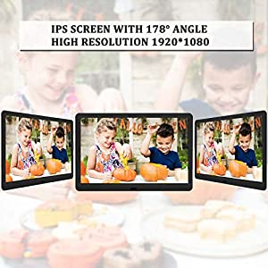 EastPoint Digital Photo Frame 10 Inch, 1920×1080 Full HD 16:10 IPS Display Photo/Music/Video Player Calendar Alarm Auto…