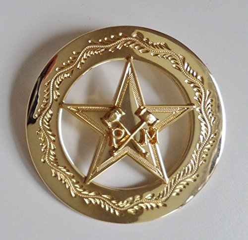 Masonic Pentagram With Crossed Mallets Gilt Past Masters Jewel - - Jewel Gilt