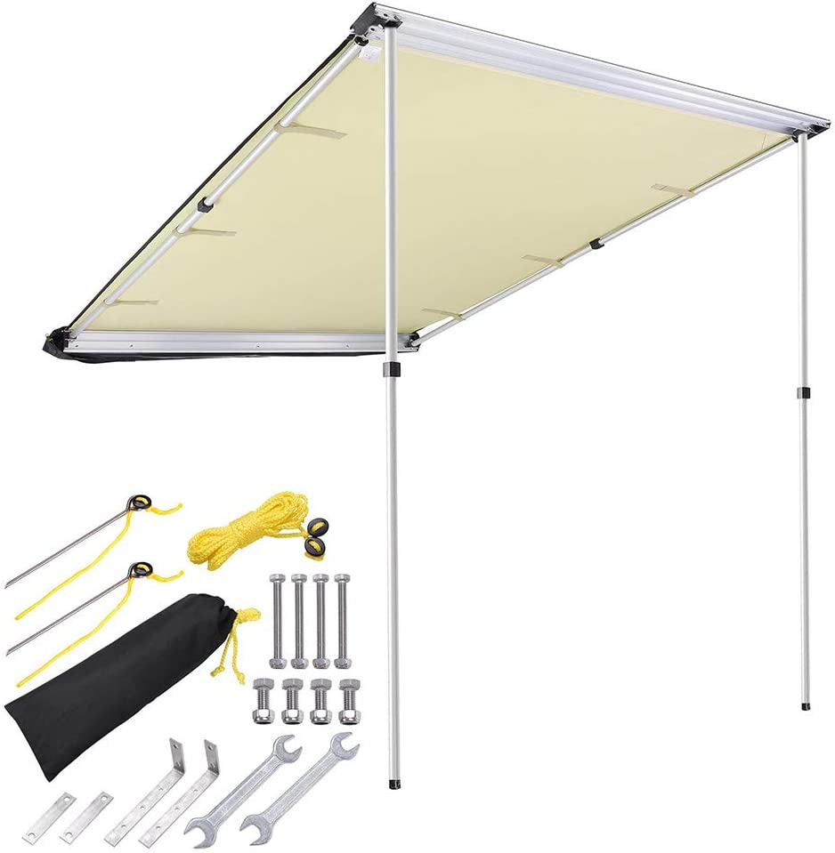 5. Yescom Car Side Awning Rooftop Pull Out Tent Shelter