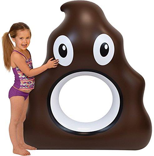 Kangaroo Pool Floats; 53 Emoji Pool Raft, Over 4 Ft