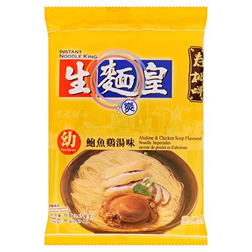 Thin Noodle, Abalone & Chicken Soup Flavour, net weight 70 g (Pack of 3 pieces) / Beststore by KK8 (Abalone Thin)