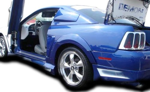 (1999-2004 Ford Mustang Couture Demon Rear Fender Flares - 2 Piece)
