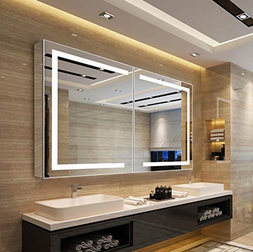 Bathroom cabinet Mirror cabinet Bathroom Cabinet/ Illuminated Bathroom Mirrors Wall Mounted With -