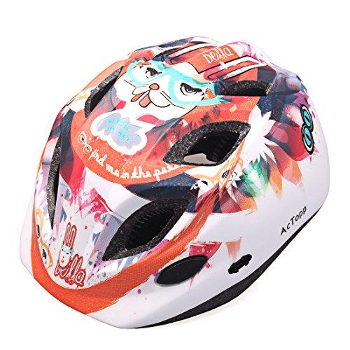 AcTopp-Unisex-Casco-de-Ciclismo-Infantil-Nio-para-Bicicleta-Bici-Cartoon-Figura-Conejo-PCEPS-Anti-golpe-Superligero-Ajustable-Talla-52-55cm-Bolsa-Protectora-Regalada