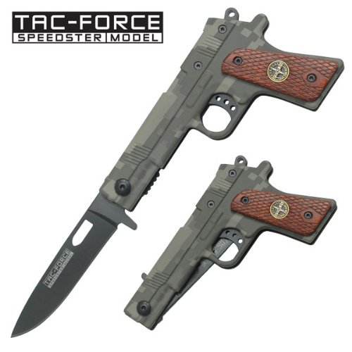 Tac Force TF-662RG Assisted Opening Folding Knife 4.5-Inch Closed, Outdoor Stuffs