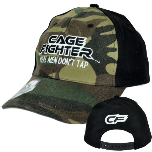 Fighter Cage Chuck (Cage Fighter Real Men Dont Tap Camo Snapback Martial Arts Chuck Liddell Hat Cap)