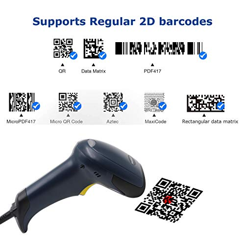 TEEMI T26 qr Barcode Scanner Handheld Automatic USB Wired 1D