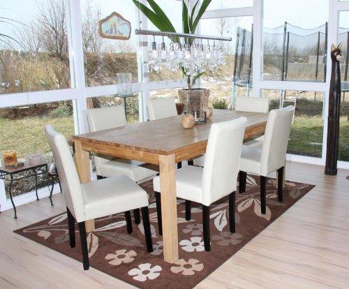 Sedie Sala Da Pranzo Ecopelle : Set sedie littau ecopelle per sala da pranzo cm