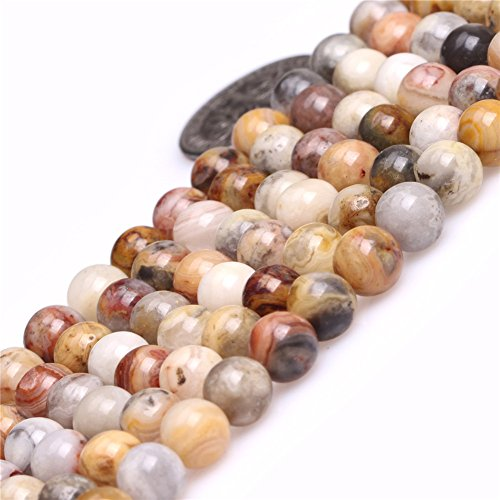 - 6mm Round Gemstone Crazy Lace Agate Beads Strand 15 Inch Jewelry Making Beads