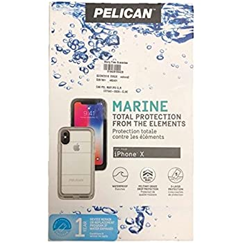 the latest 933d5 33e91 APPLE IPHONE X PELICAN MARINE SERIES WATERPROOF CASE (IP68 CERTIFIED) CLEAR  AND CLEAR