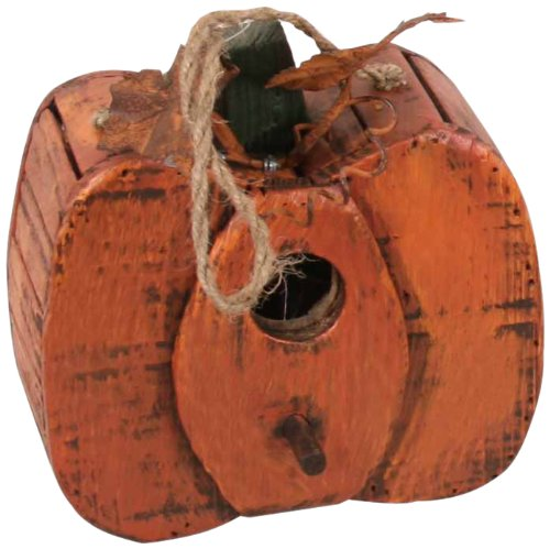 Garden Decoration ZH09001-2 Wooden Pumpkin Garden Accent, 8-Inch, (Holoween Decorations)