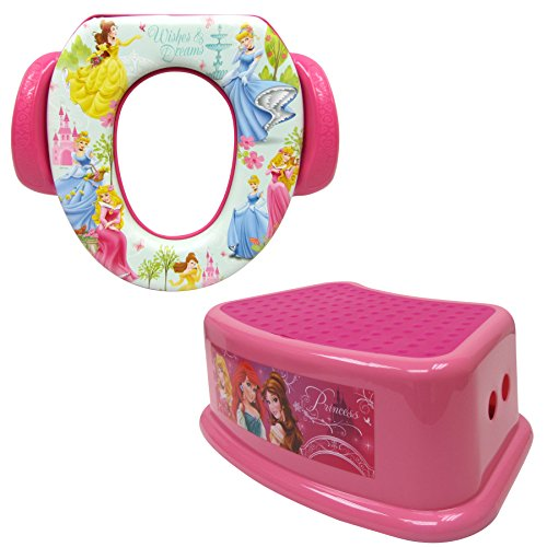 (Disney Princess Potty Training Combo Kit - Contour Step Stool & Soft Potty,)