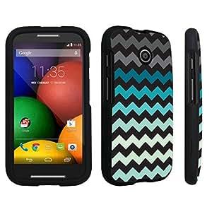 DuroCase ? Motorola Moto E (2014 Released) Hard Case Black - (Mint Black Chevron)