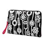 Samsonite Fashionaire Ipad Sleeve, Black/White Print, One Size, Bags Central