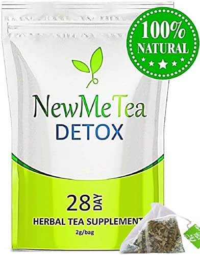 28 Day Detox Tea (Cleanse for Weight Loss & Belly Fat) Herbal Tea to Slim Fast, Skinny Fit Body ** Boost Metabolism + Energy, Bloating & Appetite Suppressant** for Men & Women