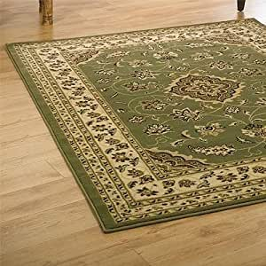Flair Rugs Sincerity Sherborne Rug, Green, 240 x 330 Cm by Flair Rugs