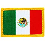 Patch écusson brodé drapeau mexique mexicain mexico thermocollant backpack