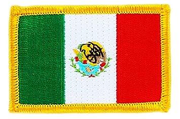 Patch écusson Brodé Drapeau Mexique Mexicain Mexico Thermocollant