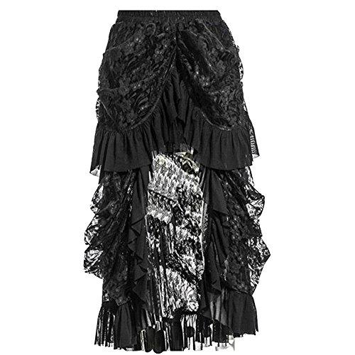 COSWE - Jupe - Asymtrique - Femme noir noir