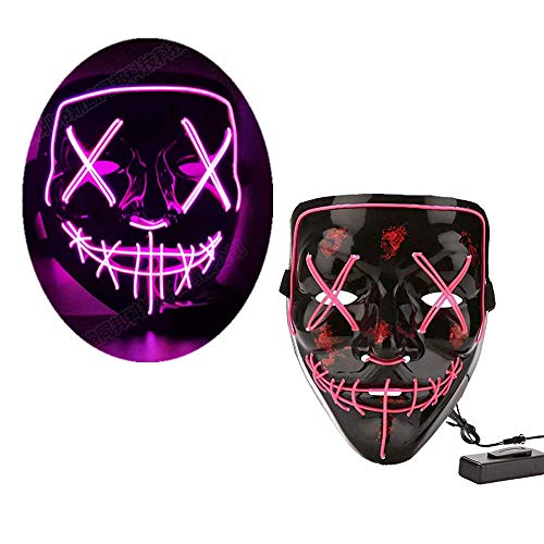 Mickey's Not So Scary Halloween Party Costumes (LEWOTE Halloween Mask, LED Light Up Mask for Halloween Festival Cosplay Costume Party)