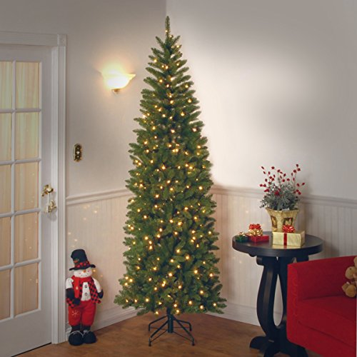 National Tree 7.5 Foot Kingswood Fir Pencil Tree with 350 Clear Lights, Hinged (KW7-300-75) by National Tree Company (Image #2)