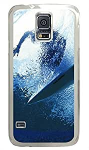 Transparent Fashion Case for Samsung Galaxy S5 Generation Plastic Case Cover for Samsung Galaxy S5 with Surfing