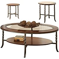 Steve Silver Company Vance Occasional Table (3 Pack), 48W x 26D x 18H/22W x 22D x 22H