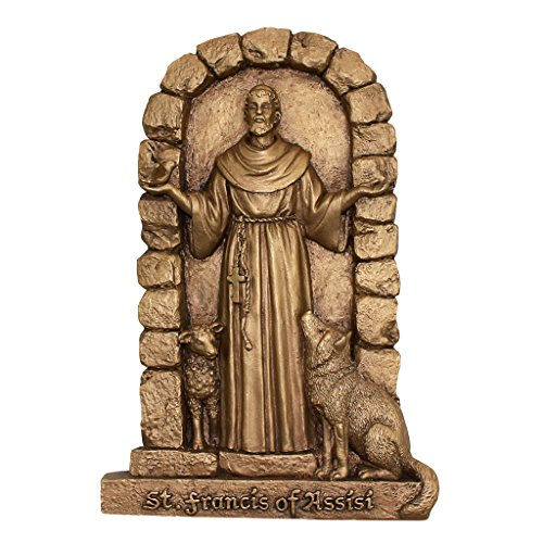 Design Toscano St. Francis of Assisi, Welcome to My Garden Wall -
