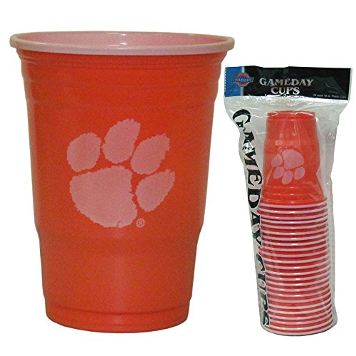 NCAA Clemson Tigers  Plastic Game Day Cups 2 Sleeves of 18 (36 Cups)