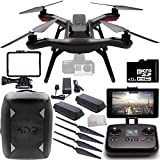3DR Solo Quadcopter (No Gimbal) with Manufacturer Accessories + Extra 3DR Flight Battery + 2 3DR Propeller Sets + 32GB microSD Memory Card + Microfiber Cleaning Cloth