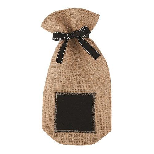 Marketplace Jute Chalkboard Wine Sack by Twine