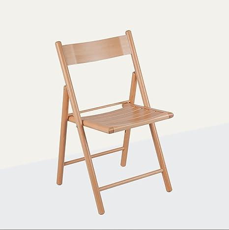 Amazon.com: Plegar sillas madera maciza silla plegable ...