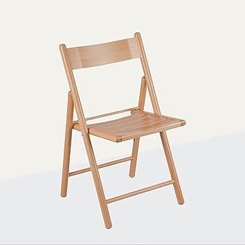 Chair QL chaise pliable Chaise de bureau en bois massif chaise ...